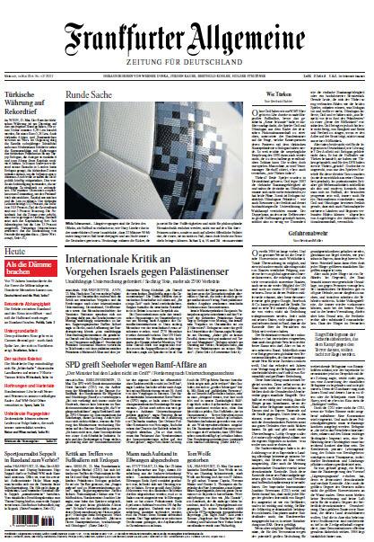 :  Frankfurter Allgemeine 16 Mai 2018