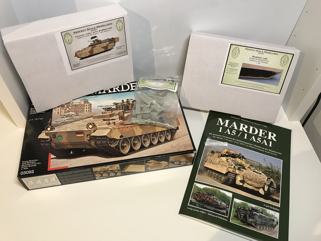 revell perfect scale spz marder 1a5a1 barracuda in 1 35. Black Bedroom Furniture Sets. Home Design Ideas