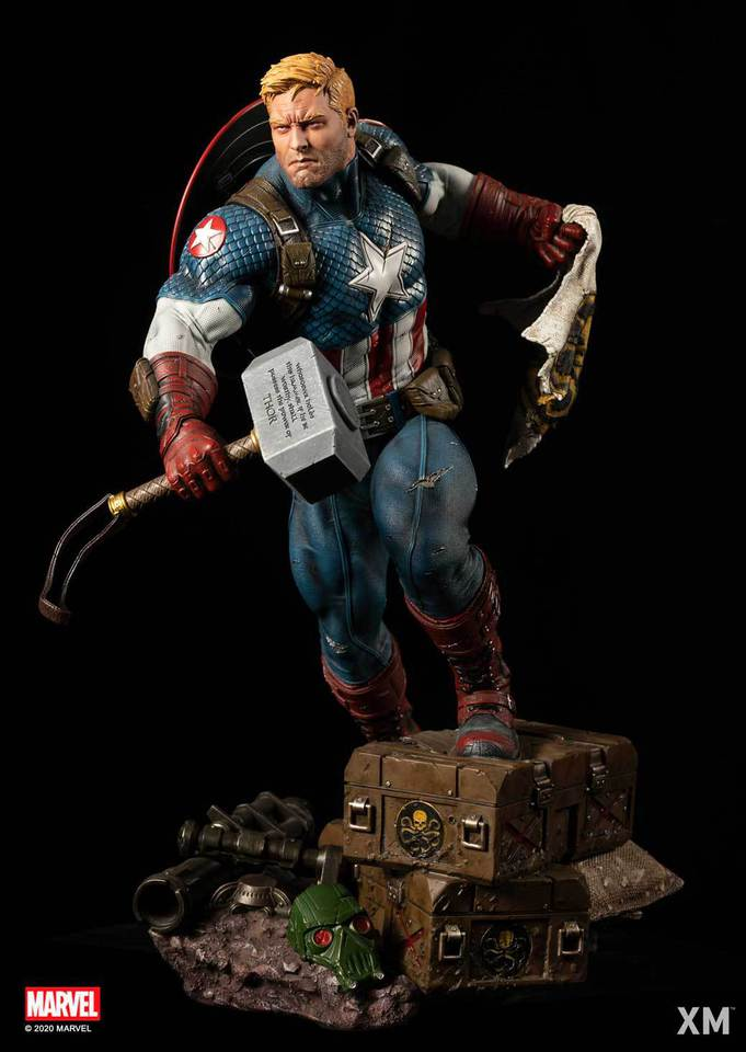 Premium Collectibles : Captain America Ultimate 1/4 Statue 3dkjk0