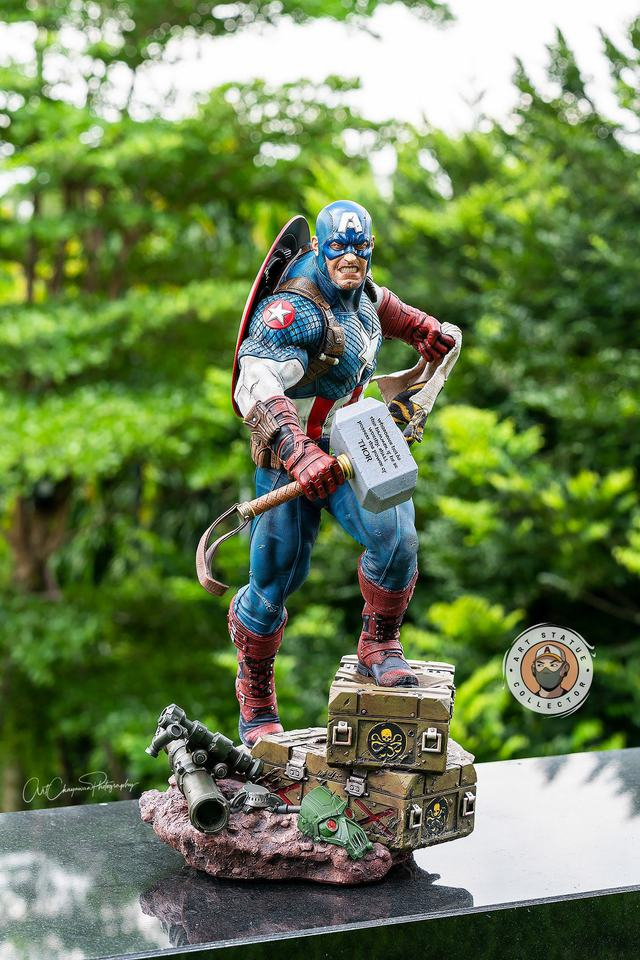 Premium Collectibles : Captain America Ultimate 1/4 Statue 3ukjvt