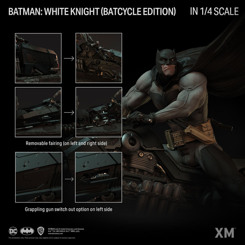 Premium Collectibles : Batman White Knight on Bike1/4 Statue 3xykzo