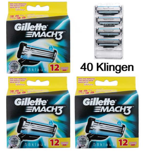12 Gillette Mach3 Turbo Rasierklingen Klingen im Blister ohne OVP 3x 4er Set