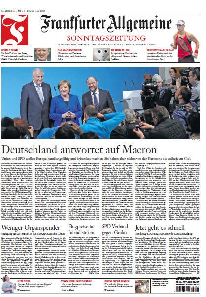 : Frankfurter Allgemeine Sonntags Zeitung 14 Januar 2018