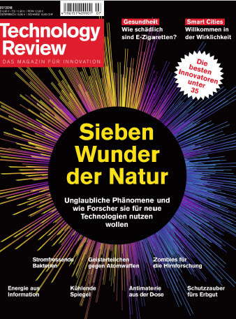 Technology Review Magazin für Innovation Juli No 07 2018