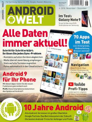 Android Welt Magazin November-Dezember No 06 2018