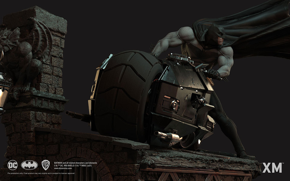 Premium Collectibles : Batman White Knight on Bike1/4 Statue 4g9k61