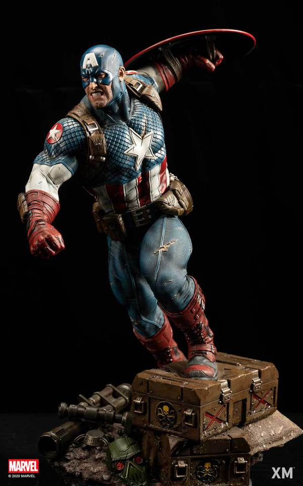 Premium Collectibles : Captain America Ultimate 1/4 Statue 4kmk9u