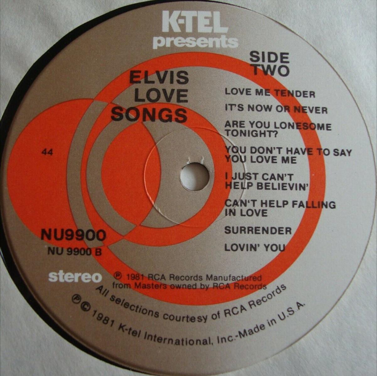 USA - ELVIS LOVE SONGS 4mpjjh