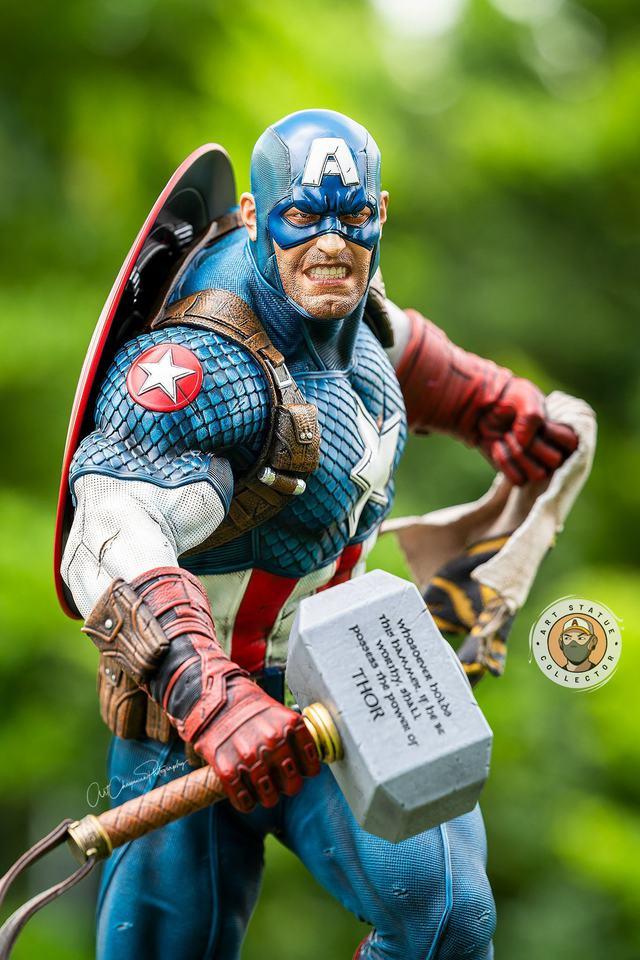 Premium Collectibles : Captain America Ultimate 1/4 Statue 4n2k0n