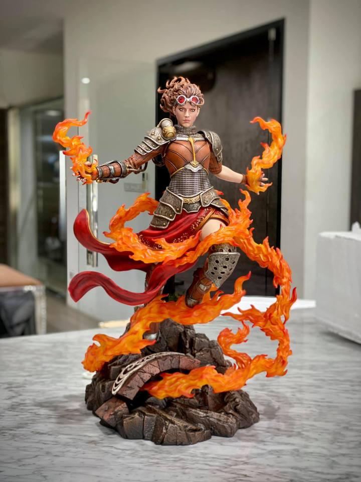 Premium Collectibles : MTG - Chandra Nalaar 1/4 Statue 4scjsh