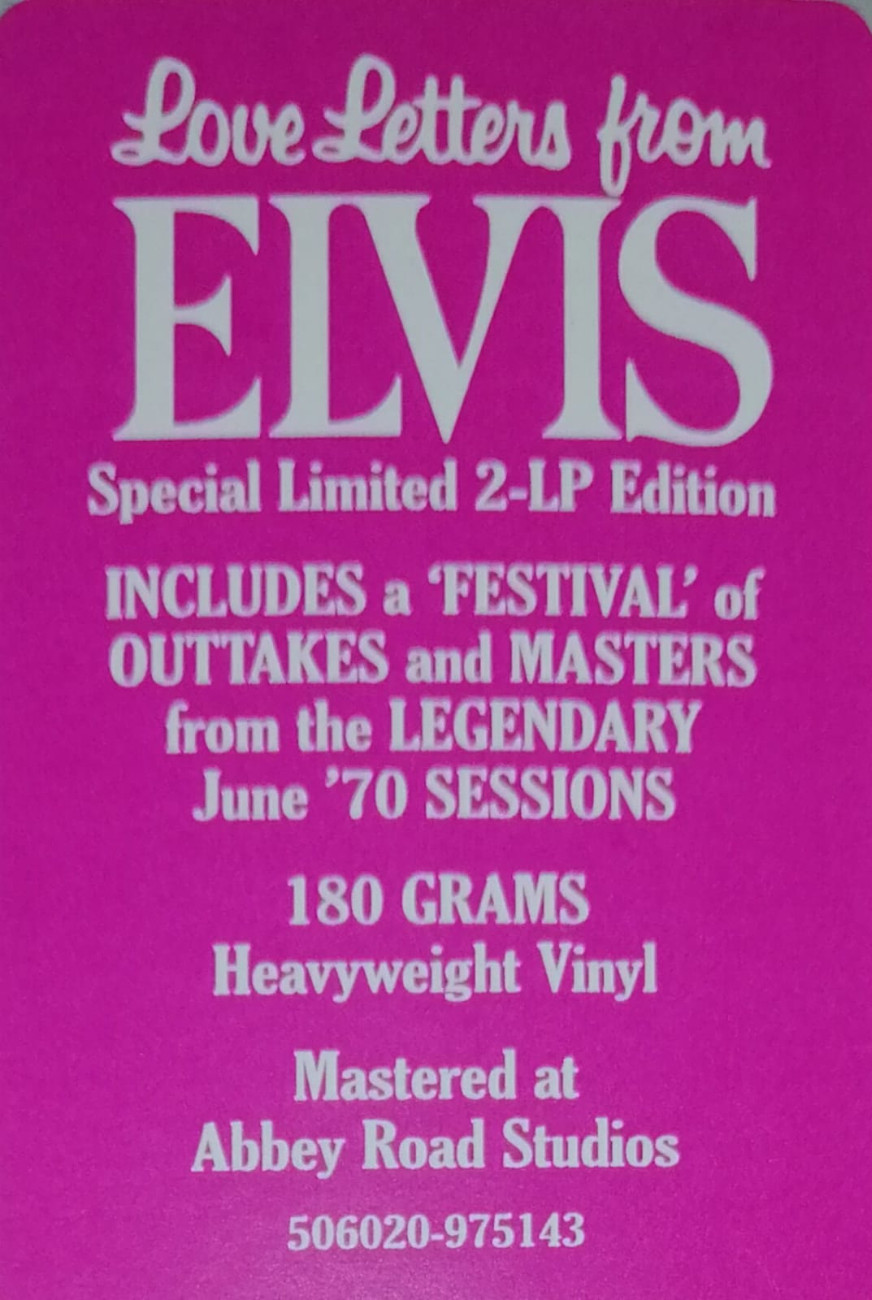 LOVE LETTERS FROM ELVIS 506020-9751432k6j6s
