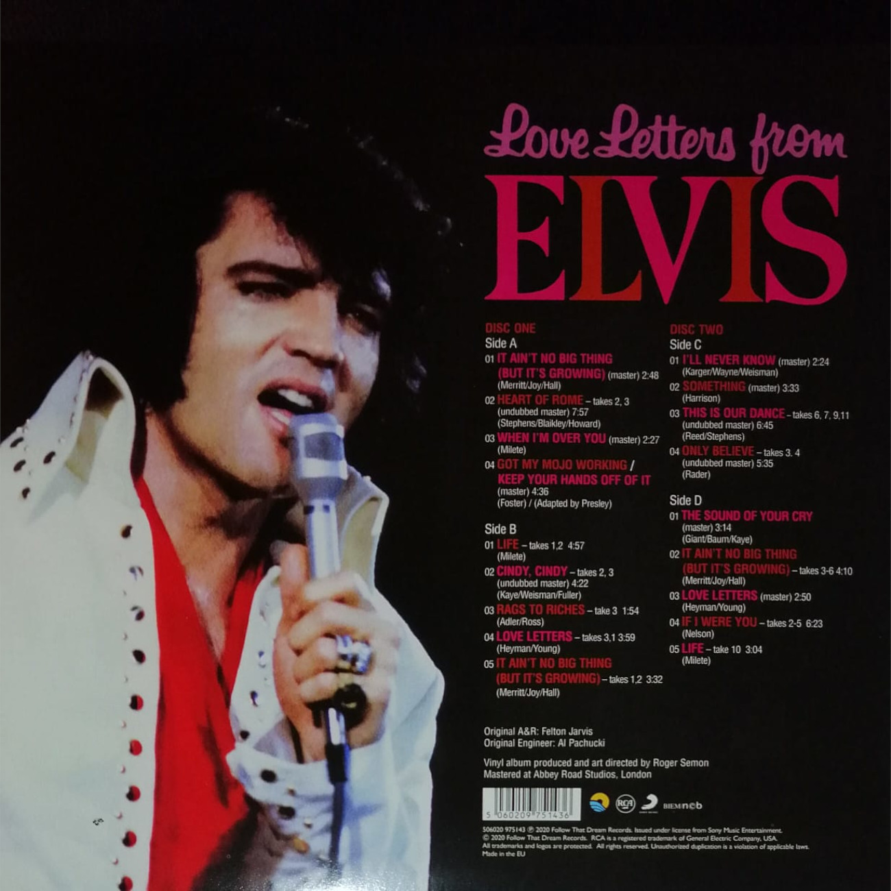 LOVE LETTERS FROM ELVIS 506020-97514351xj3h