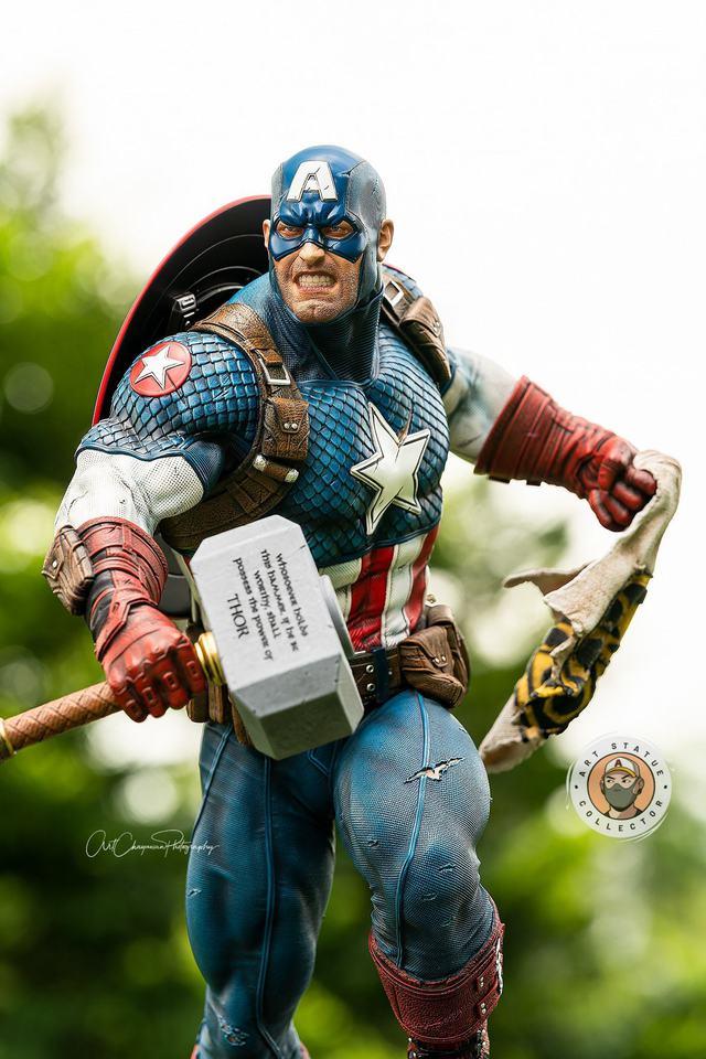Premium Collectibles : Captain America Ultimate 1/4 Statue 50ykff