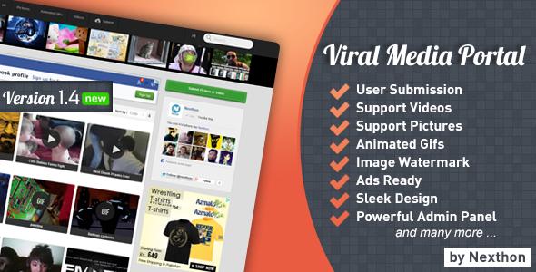 Codecanyon - Viral Media Portal 1.4.2 Nulled
