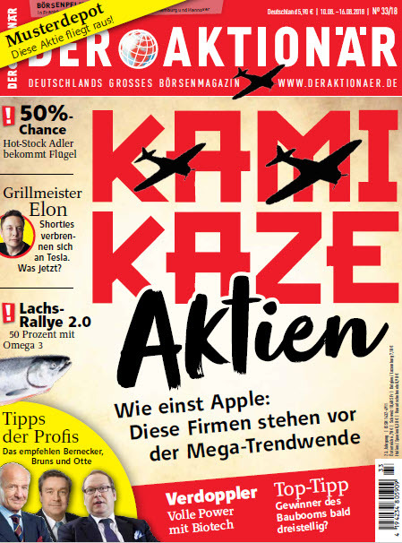 Der Aktionär Magazin No 33 vom 10 August 2018