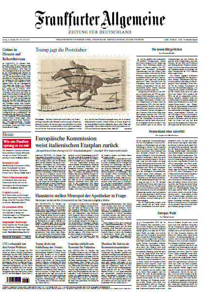 Frankfurter Allgemeine 19 Oktober 2018