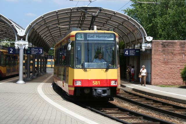 581 Ausfahrt Karlsruhe Albtalbf