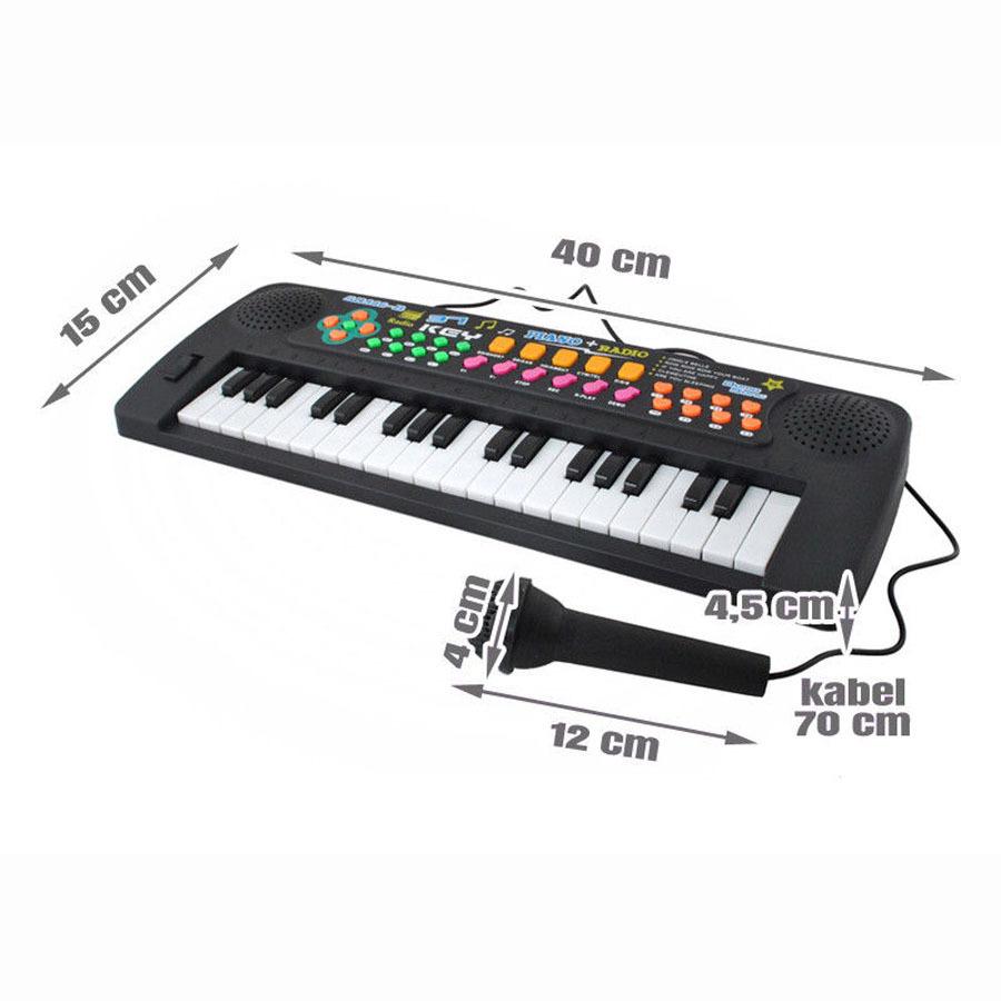 Mikrofon und Hocker f/ür Kinder ab 3 Jahren Blau Festnight Kinder Keyboard Spielzeug mit 37 Tasten Kunststoff Kinderpiano inkl