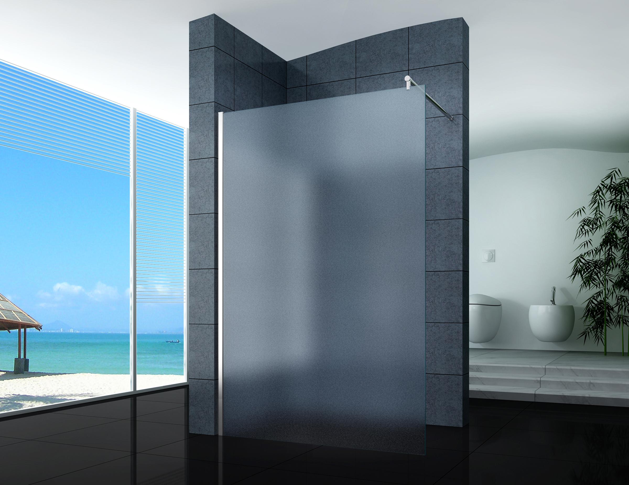 walk in duschabtrennung duschwand seitenwand 40 160 cm klarglas nano milchglas. Black Bedroom Furniture Sets. Home Design Ideas