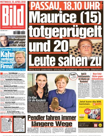 Bild Zeitung 18 April 2018