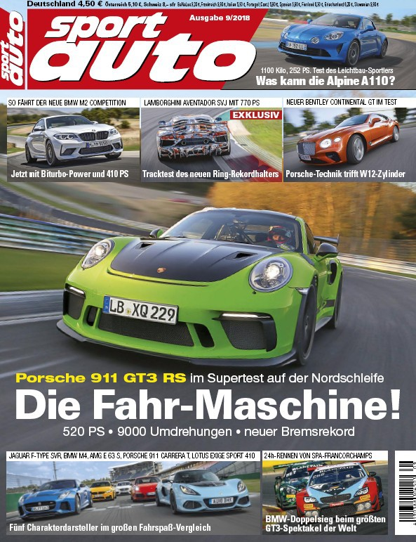 :  Sport Auto Magazin September No 09 2018