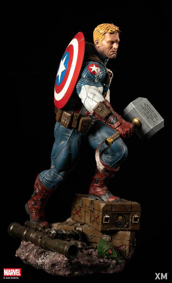 Premium Collectibles : Captain America Ultimate 1/4 Statue 6qwk1m