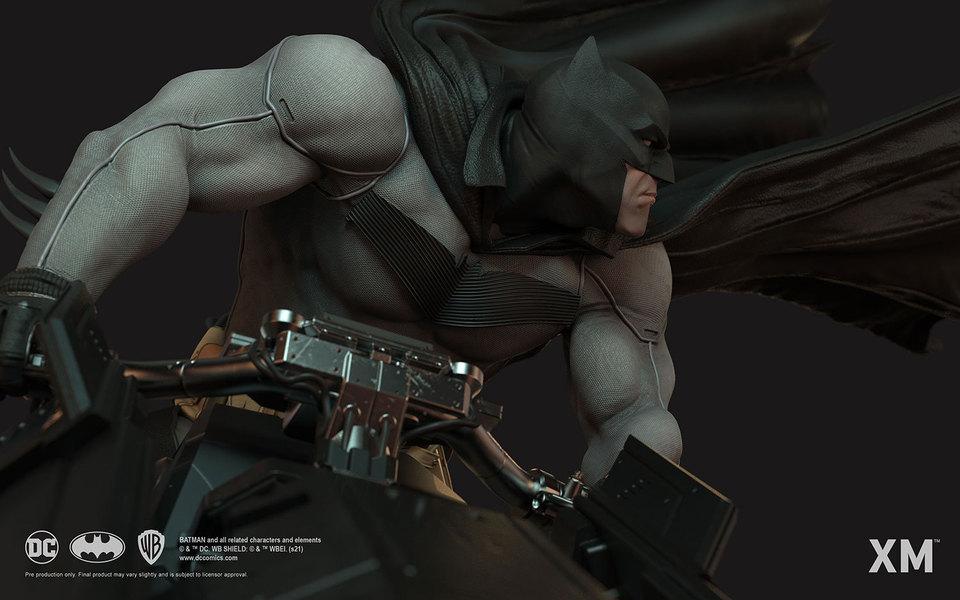 Premium Collectibles : Batman White Knight on Bike1/4 Statue 6wqjq2