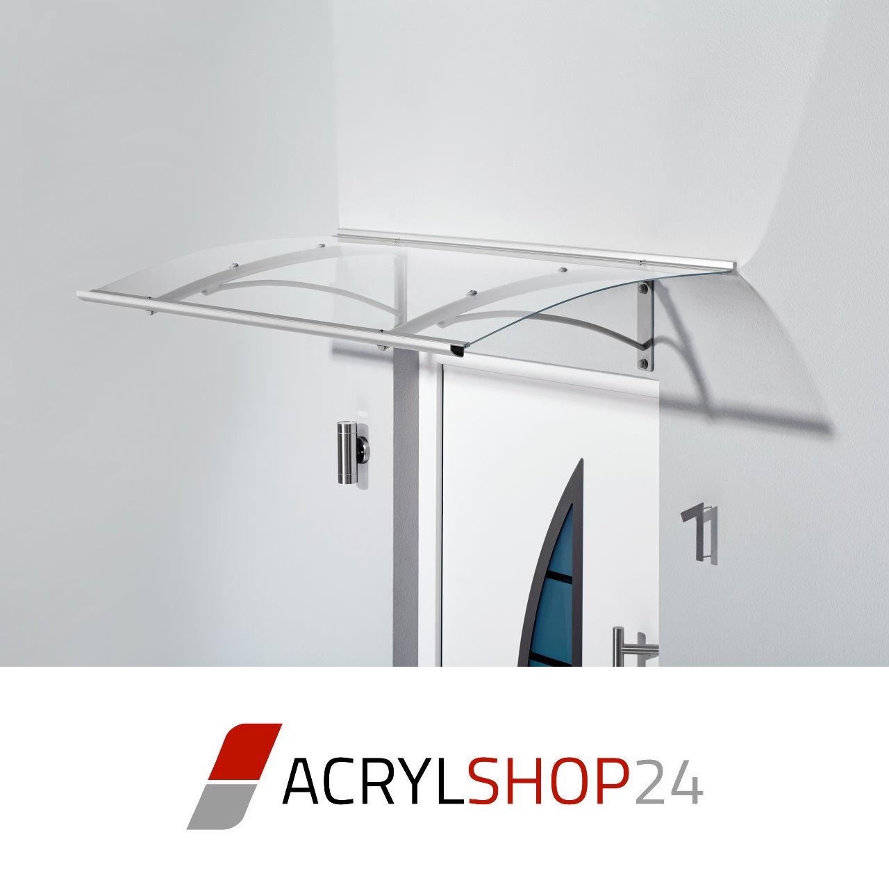 Vordach Pultvordach - Rahmen und Träger weiß pulverbeschichtet ...