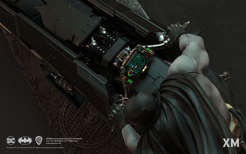 Premium Collectibles : Batman White Knight on Bike1/4 Statue 7tnjr1