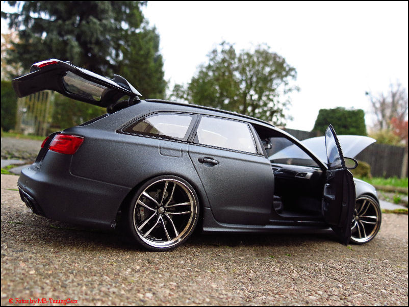 1 18 tuning audi a6 c7 rs6 avant daytonagrau matt. Black Bedroom Furniture Sets. Home Design Ideas