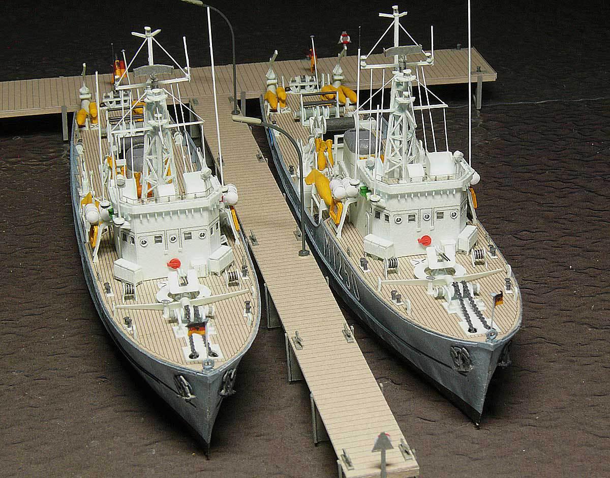 Démineur Mercure classe de la Federal Navy 1: 250 81-indienstbrji8