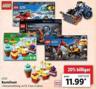 Lidl Verschiedene Lego Sets Für Je 1199 Euro Brick Deals Der