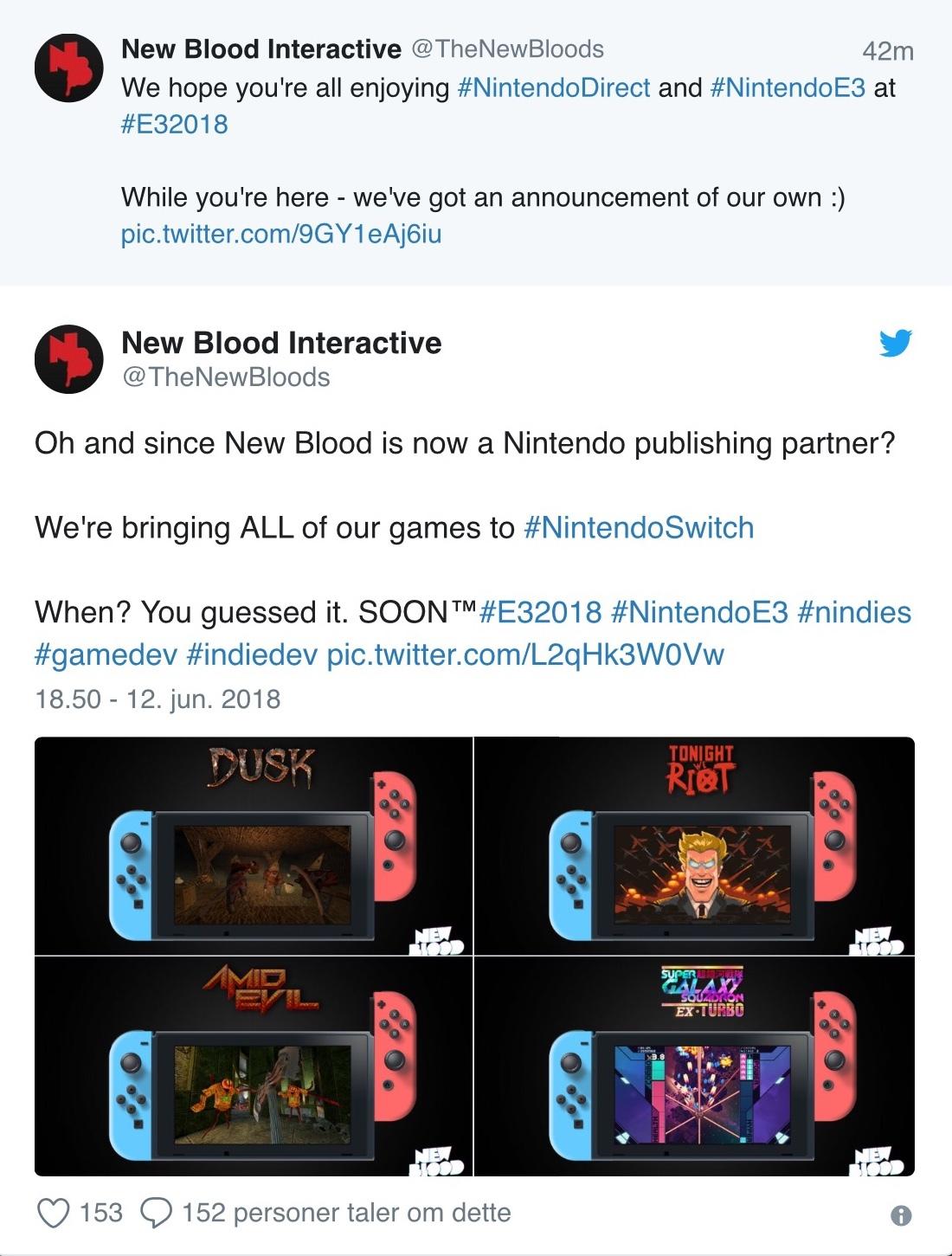E3 2018: Nintendos pressekonference