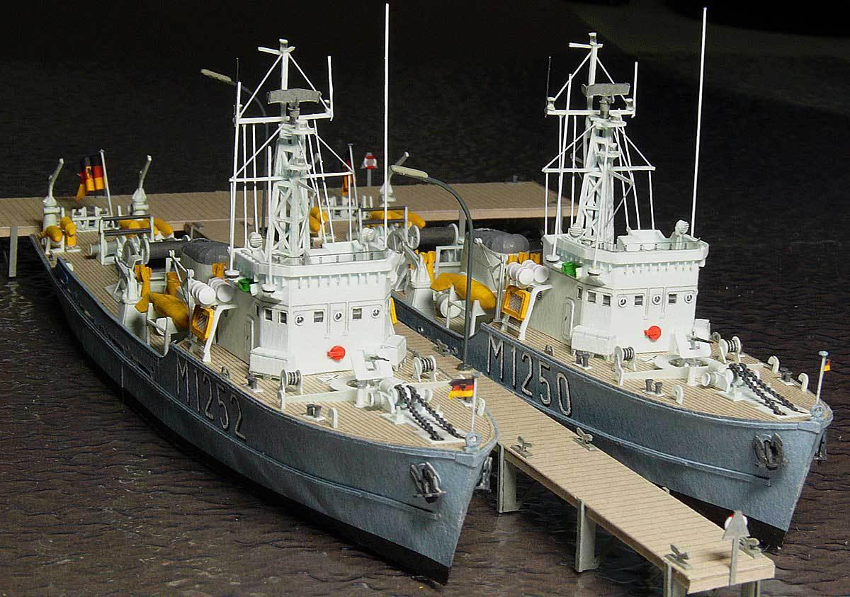 Démineur Mercure classe de la Federal Navy 1: 250 83-indienstywktn