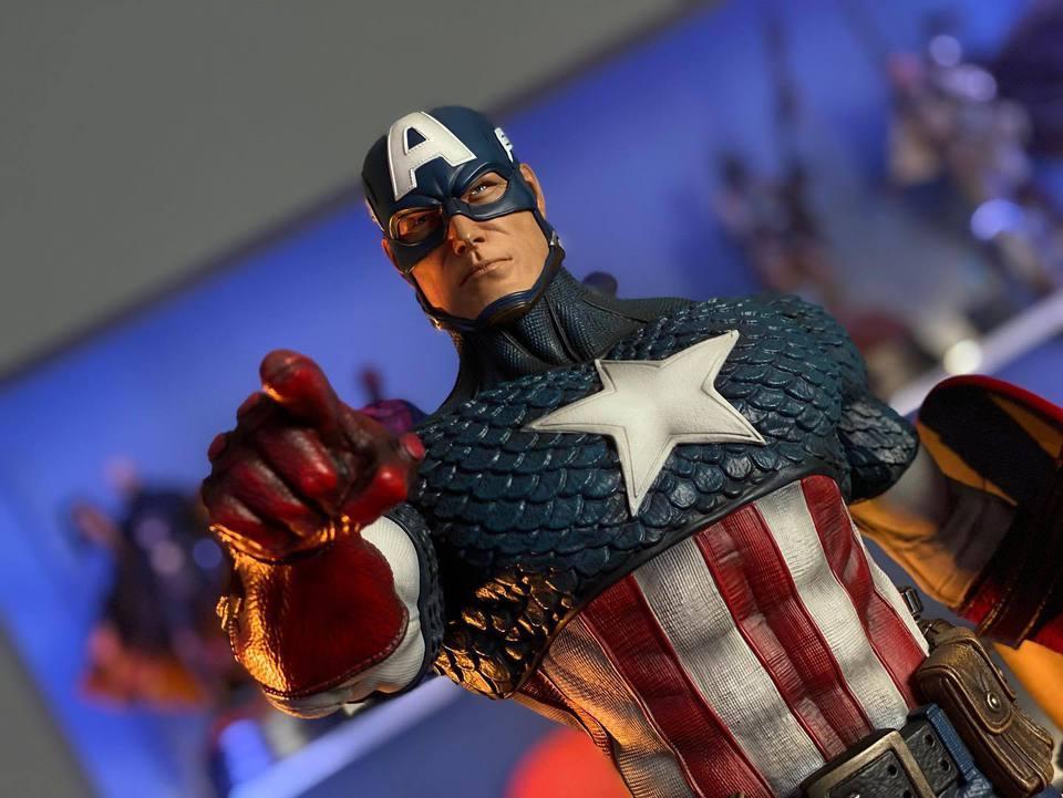 Premium Collectibles : Captain America 1/3 83170277_232470780783mlk3e