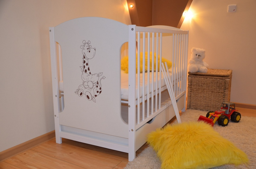 ola babybett kinderbett juniorbett mit schublade 120x60 wei mit matratze neu ebay. Black Bedroom Furniture Sets. Home Design Ideas