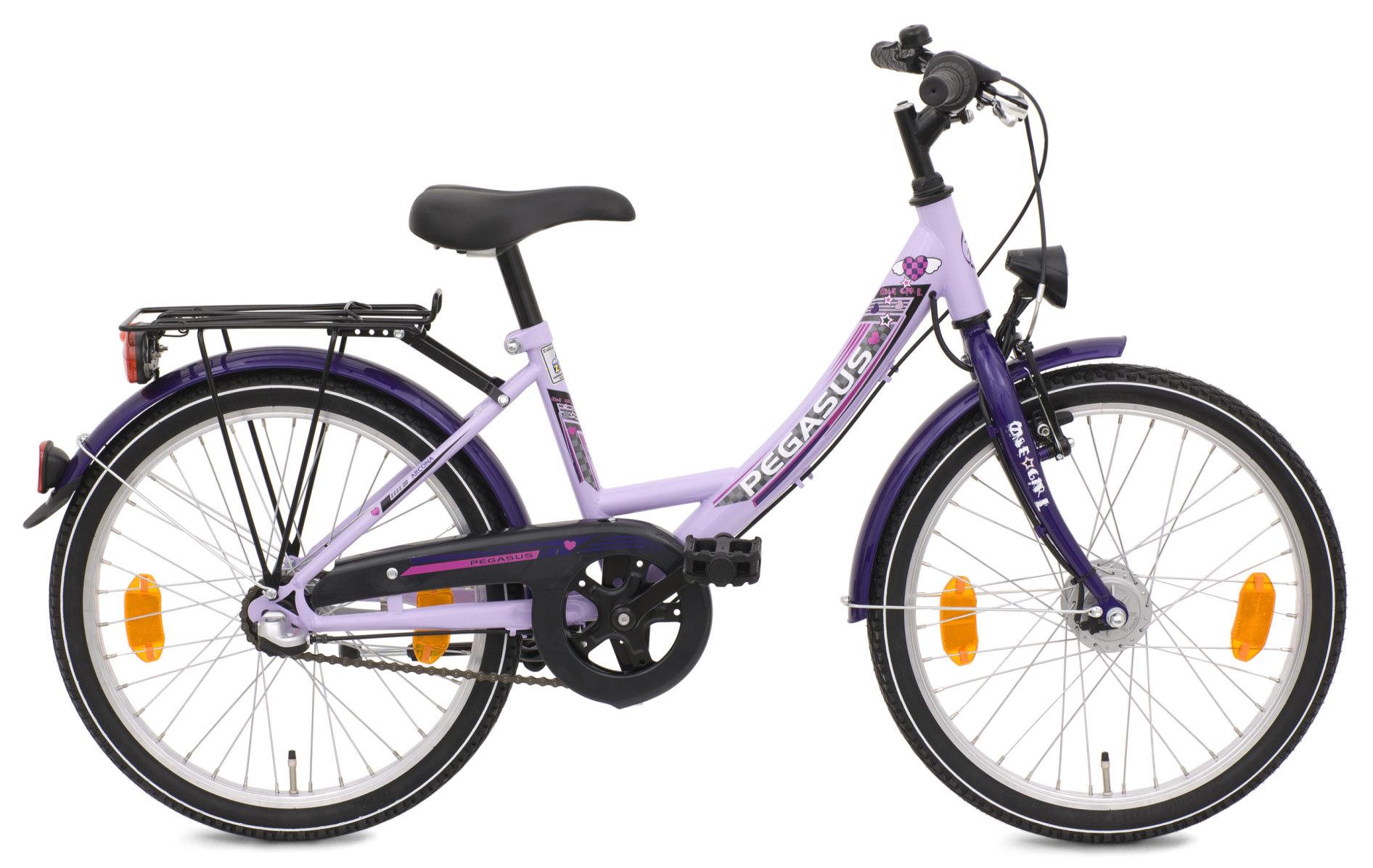 m dchen fahrrad pegasus arcona nd 20 zoll lila shimano 3 g. Black Bedroom Furniture Sets. Home Design Ideas