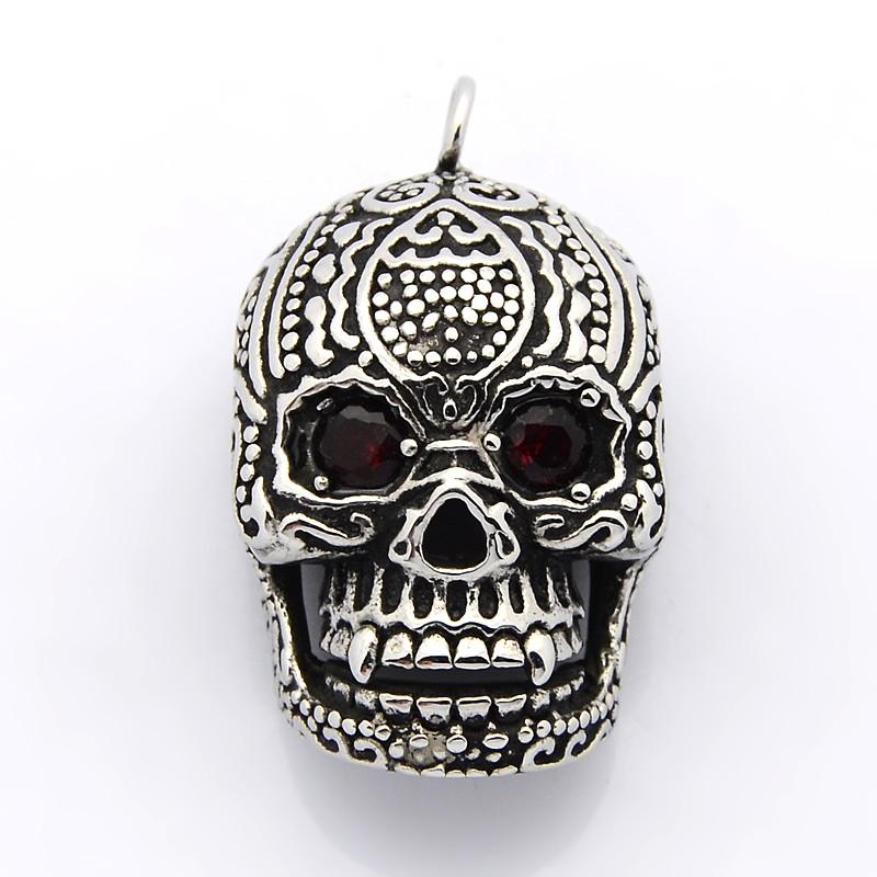 Totenkopf Kette Halloween Halskette silber Skelett Schädel Gothic Halsschmuck