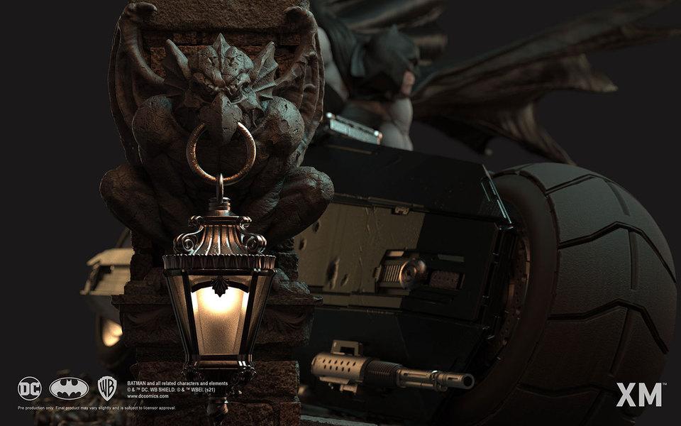 Premium Collectibles : Batman White Knight on Bike1/4 Statue 8bqkyq
