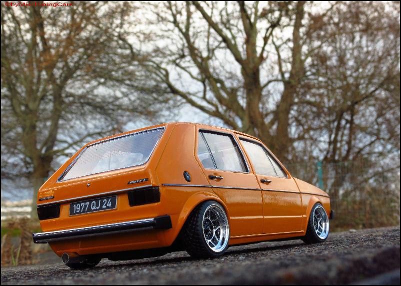 1 18 tuning volkswagen vw golf 1 l 1983 orange mit ats. Black Bedroom Furniture Sets. Home Design Ideas