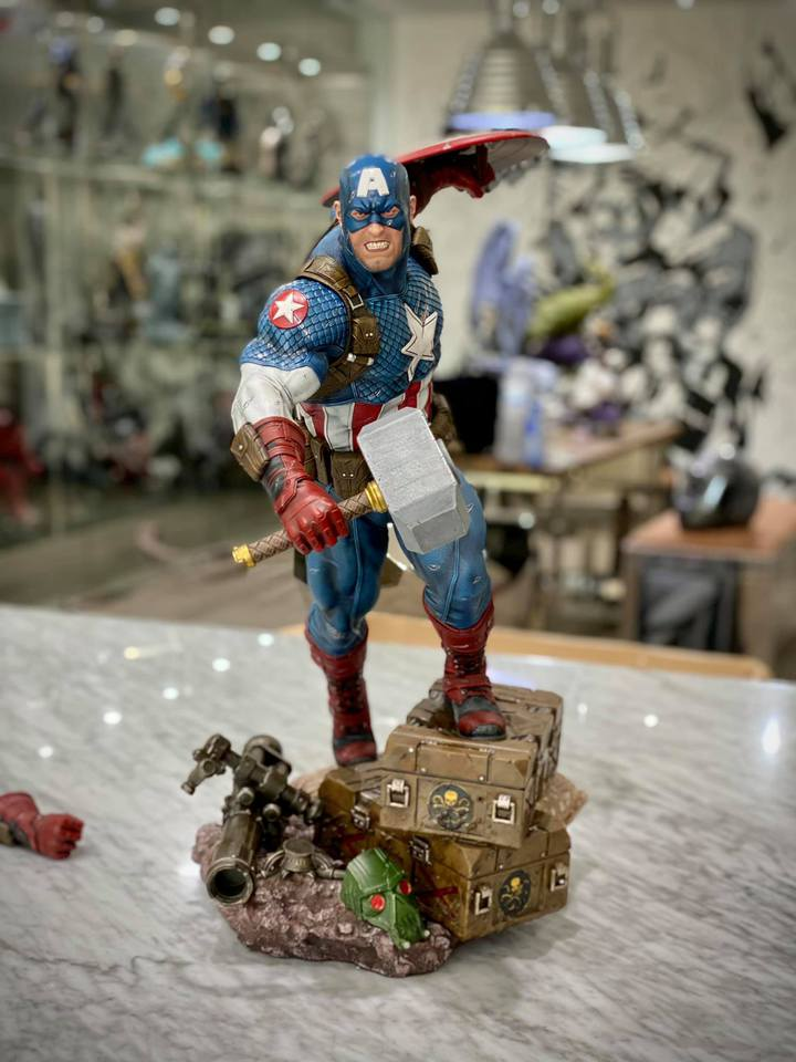 Premium Collectibles : Captain America Ultimate 1/4 Statue 8utkbl