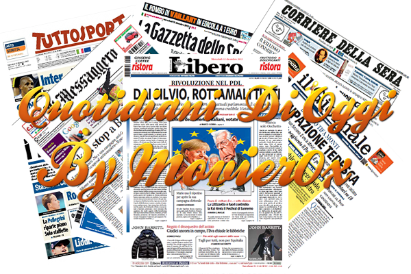 Quotidiani Di Oggi (18.11.2019)