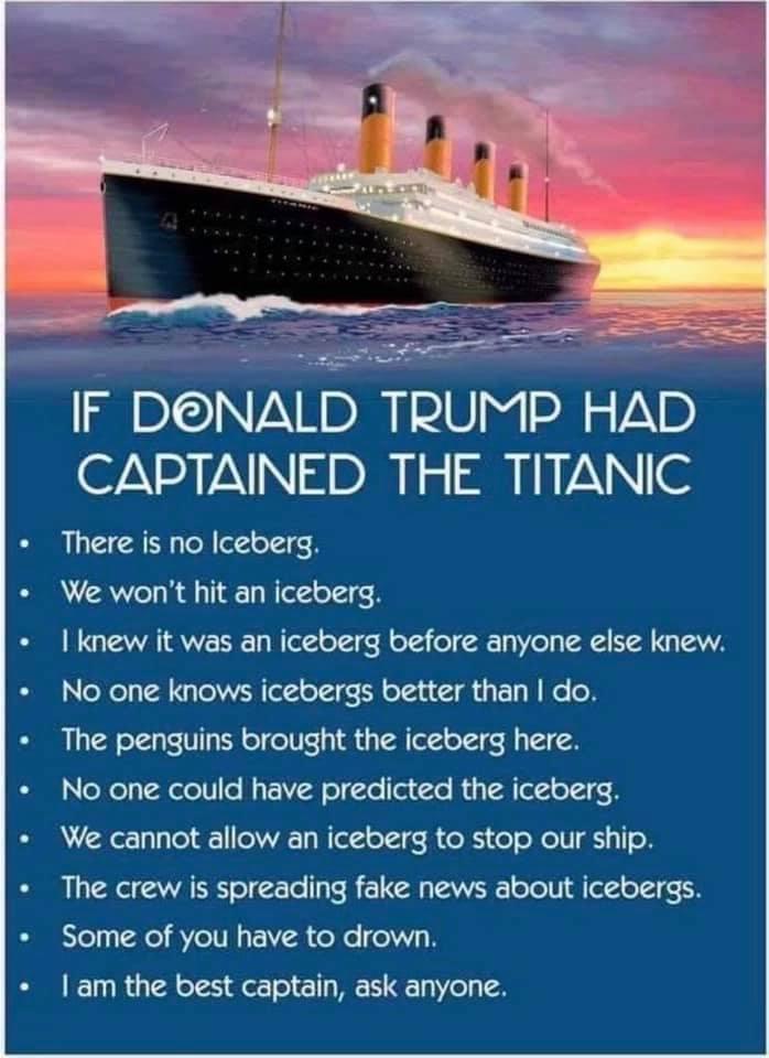 Wenn Donald Trump Kapitän der Titanc gewesen wäre