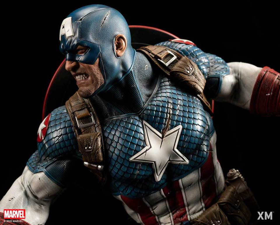 Premium Collectibles : Captain America Ultimate 1/4 Statue 99pku7