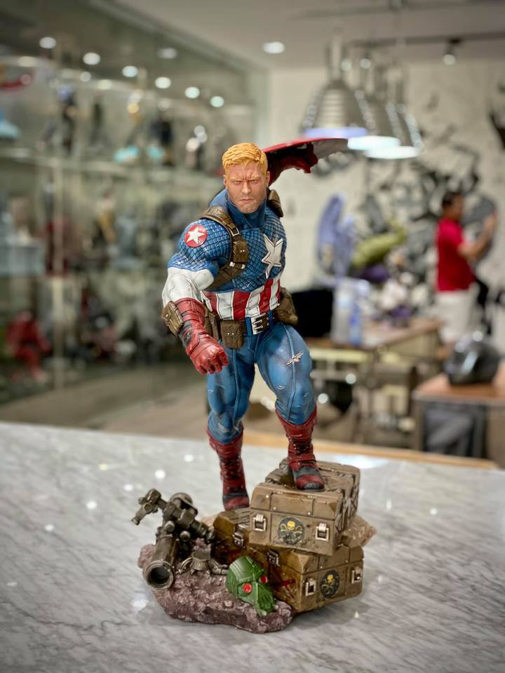 Premium Collectibles : Captain America Ultimate 1/4 Statue 9kkjze