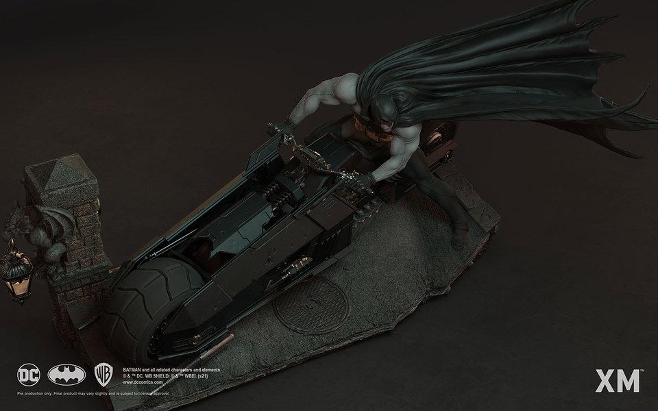 Premium Collectibles : Batman White Knight on Bike1/4 Statue 9kwjul