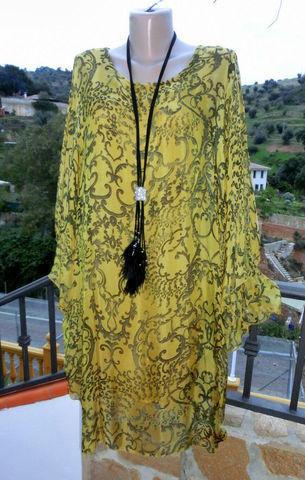 Italy Lagenlook Tunika Kleid Empire Boho Impressionen ...
