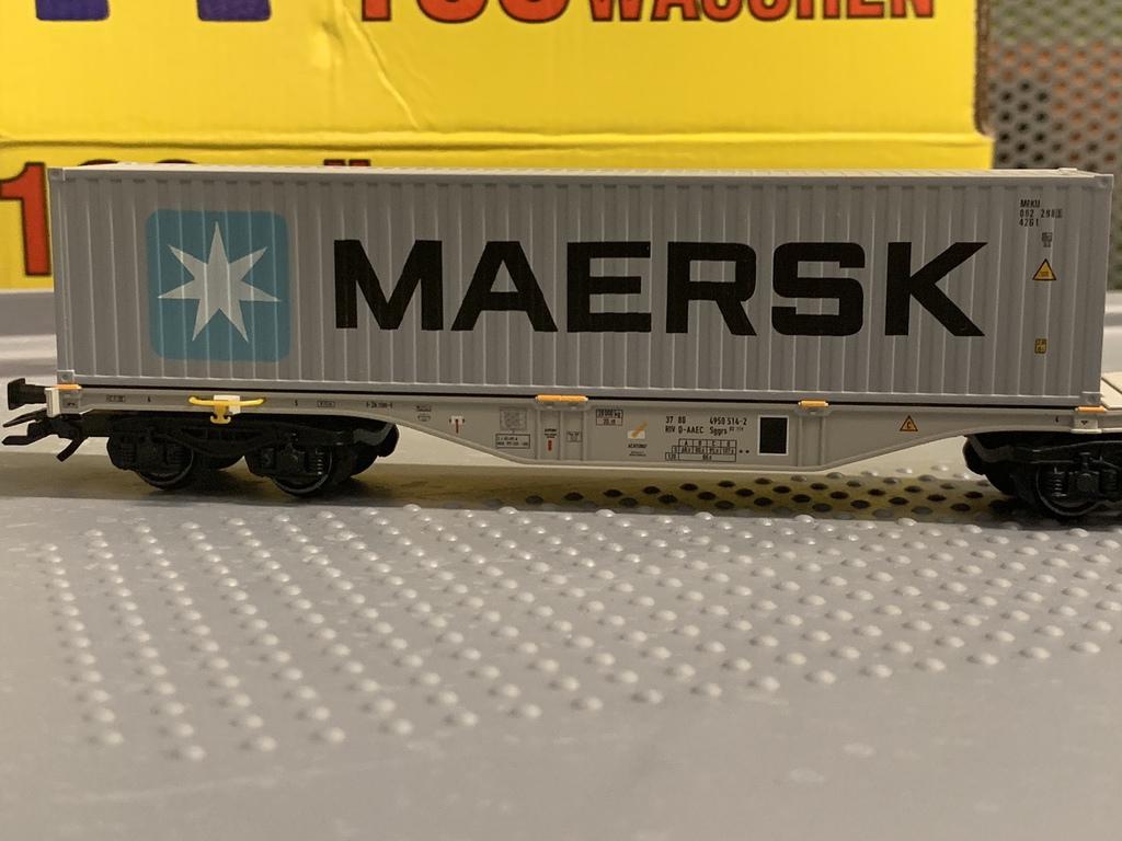 Märklin 47806 Containerwagen MAERSK Auf Wunsch Achstausch für DC gratis