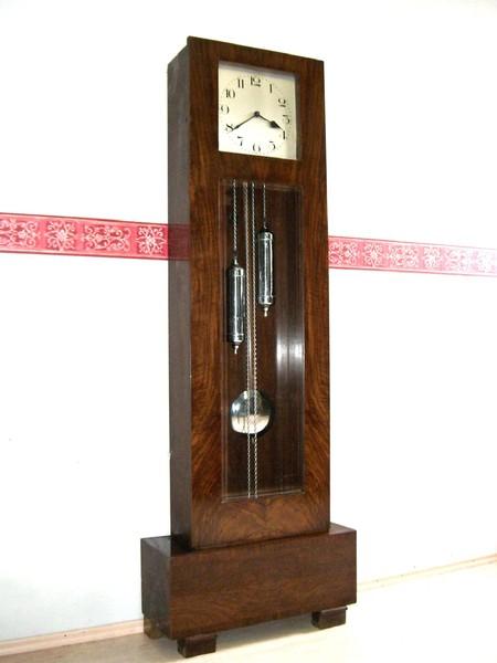 top bauhaus art deco standuhr antik longcase clock pendule uhrwerk pendeluhr uhr ebay. Black Bedroom Furniture Sets. Home Design Ideas