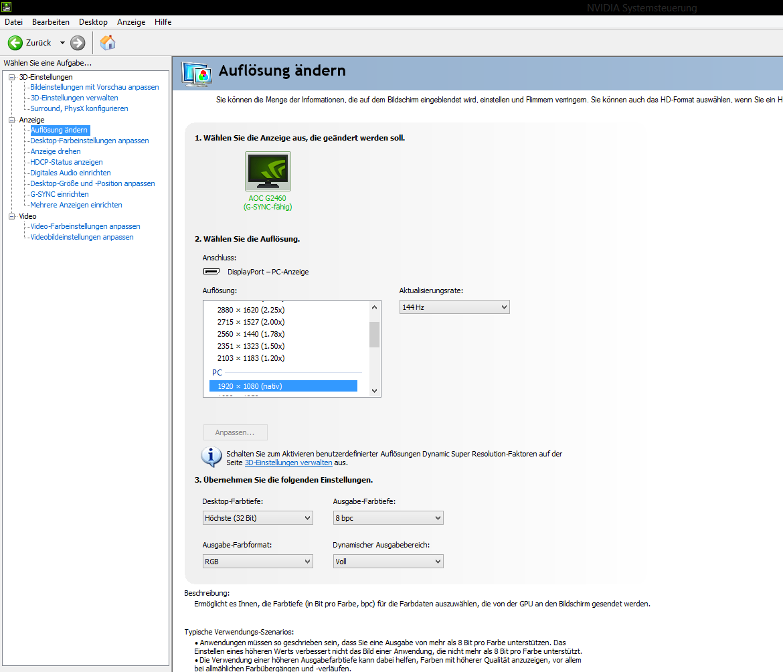acu1c - DSR funktioniert nicht (GTX 970)